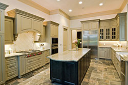 Granite kitchen green cabinets - Phoenix Arizona Phoenix Arizona