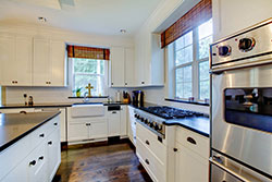 black granite white cabinets Granite kitchen - Phoenix Arizona Phoenix Arizona