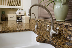 white undermount sink Granite kitchen Affordable Granite Phoenix